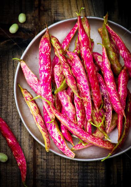 pods of organic haricot   Stock photo © zoryanchik