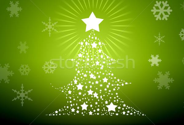 2011 illustrazione albero di natale strada montagna inverno Foto d'archivio © zurijeta