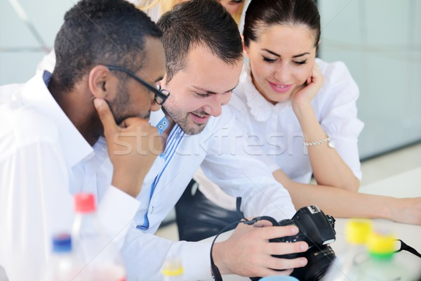 Middle eastern business people in modern office Stock photo © zurijeta