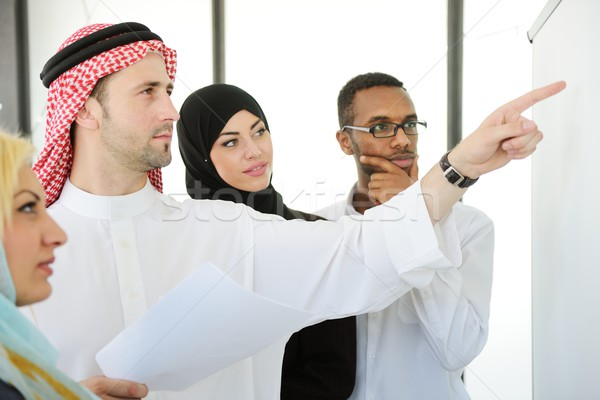 Stock photo: Group of multi ethnic business people at work