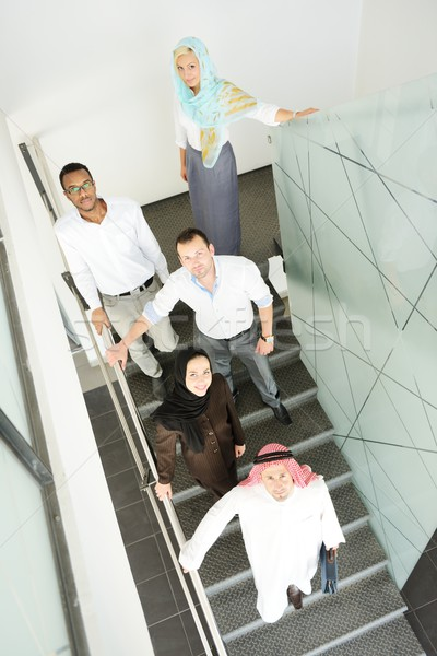 Middle eastern people having a business meeting at office Foto stock © zurijeta