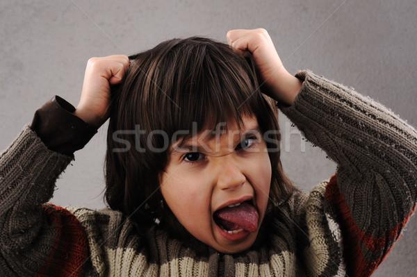 öğrenci zeki çocuk yıl eski yüz ifadeleri Stok fotoğraf © zurijeta
