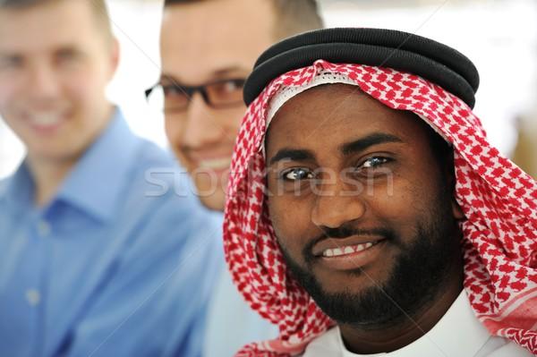 Multicultural jóvenes equipo de negocios negocios oficina sonrisa Foto stock © zurijeta