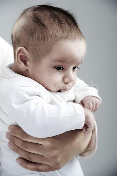 Newborn baby in mother's arms Stock photo © zurijeta