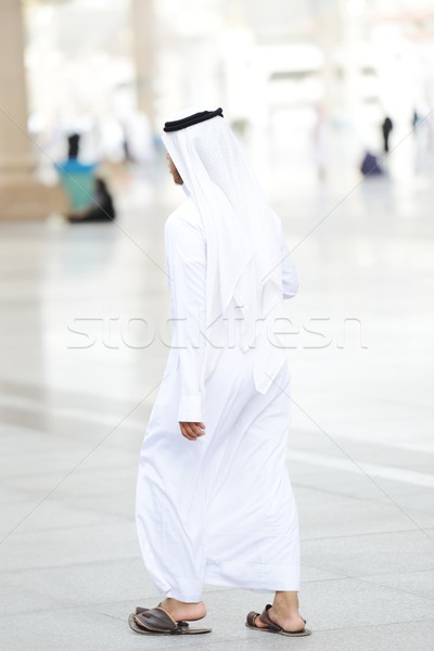 Stock photo: Arabic man walking