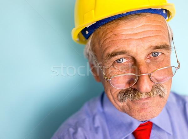 Mutlu gülen kıdemli mimar portre Stok fotoğraf © zurijeta