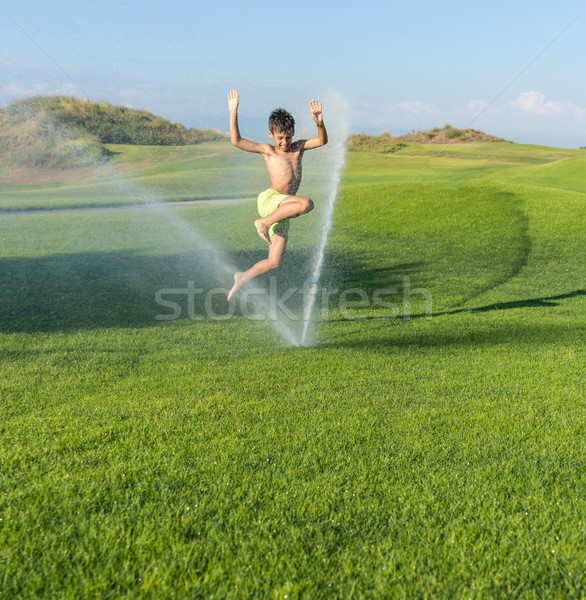 The best summer holiday vacation for splashing sprinkle water Stock photo © zurijeta