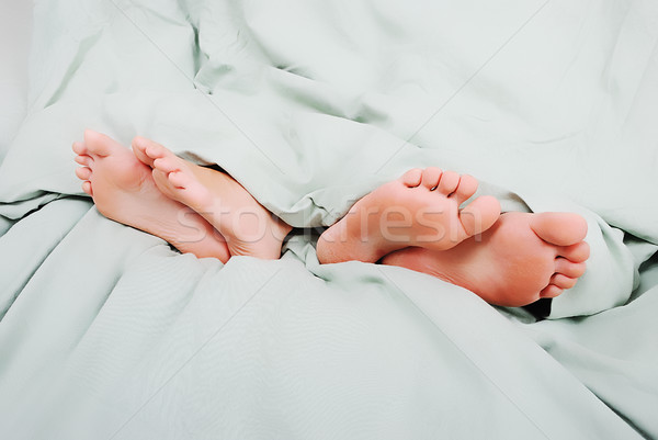 Divorcing in bed Stock photo © zurijeta