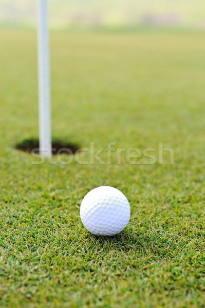 Bal gat golf veld Stockfoto © zurijeta