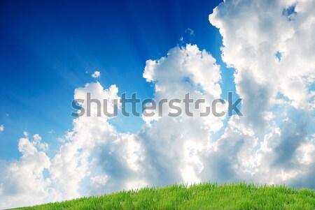 Felhőkép absztrakt természet űr felhő szél Stock fotó © zurijeta