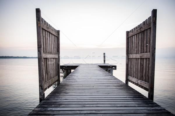 Lake dock Stock photo © zurijeta