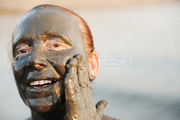 Badpak natuurlijke mineraal modder dode zee Stockfoto © zurijeta