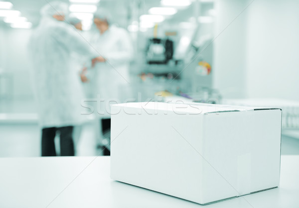 White box at automated production line at modern factory - ready for your logotype Stock photo © zurijeta