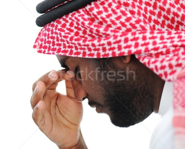 Arabskie biznesmen kryzys działalności pracy Zdjęcia stock © zurijeta