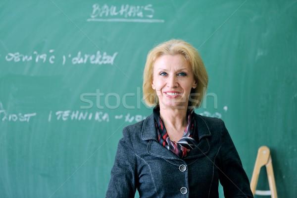 Wesoły profesor klasie kobieta tle Zdjęcia stock © zurijeta
