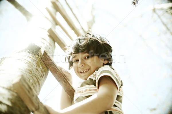 Cheerful children enjoying childhood colorized Stock photo © zurijeta