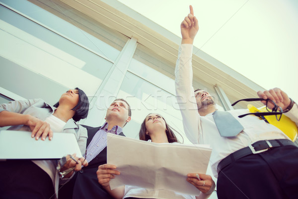 Engineers reviewing construction site Stock photo © zurijeta