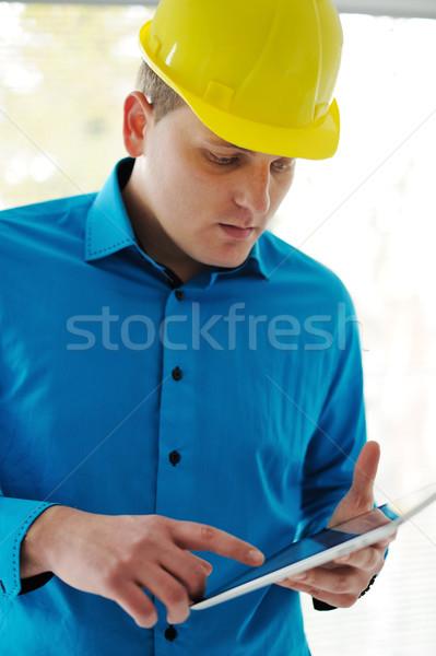 архитектора ipad работу фон промышленности работник Сток-фото © zurijeta