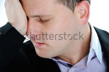Adam umutsuzluk el üzücü hayat tek başına Stok fotoğraf © zurijeta