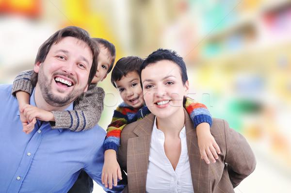 красивой счастливая семья четыре семьи улыбка фон Сток-фото © zurijeta