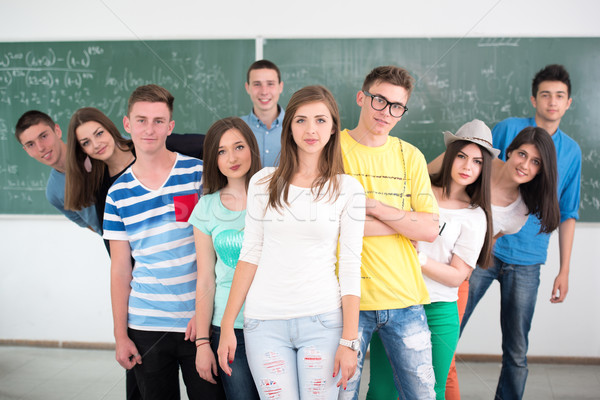 Smiling classmates Stock photo © zurijeta