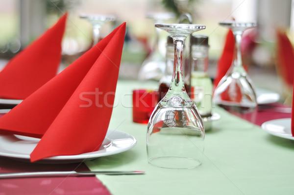 Restaurand prepared table Stock photo © zurijeta