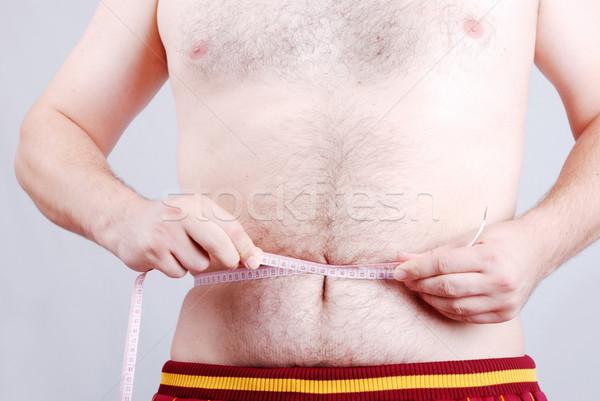 Abdomen hombre blanco tipo vientre Foto stock © zurijeta