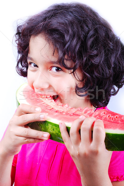 Girl and water melon Stock photo © zurijeta