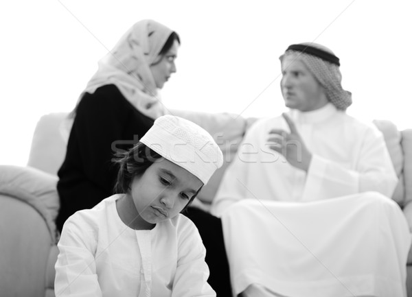 Arabic family fighting at home Stock photo © zurijeta