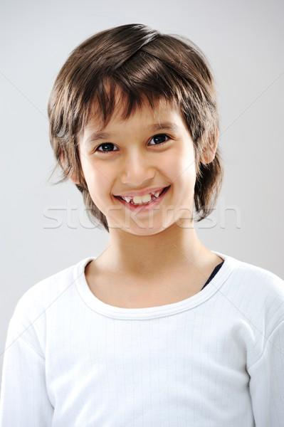 Portret real dziecko dziecko włosy Zdjęcia stock © zurijeta