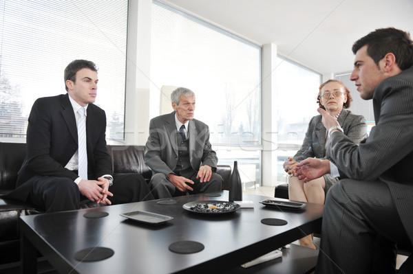 Bussines people having a break at office meeting Stock photo © zurijeta