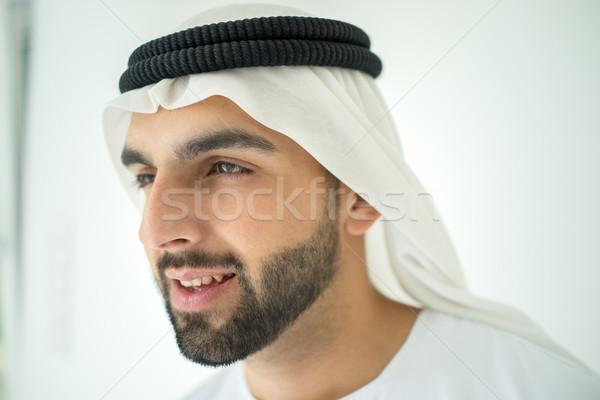 привлекательный арабский мусульманских человека арабский профиль Сток-фото © zurijeta