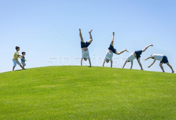 лучший семьи отпуск счастливым Летние каникулы Сток-фото © zurijeta
