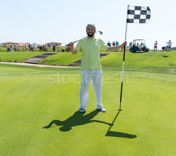 Man playing golf at club Stock photo © zurijeta
