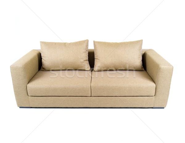 диван изолированный белый моде дизайна расслабиться Сток-фото © zurijeta