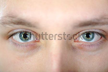 Closeup shot of the man's eyes Stock photo © zurijeta