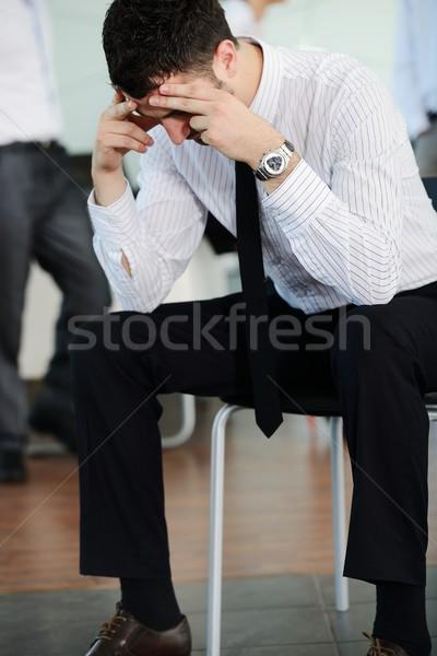 Pessoas de negócios estresse escritório homem empresário Foto stock © zurijeta