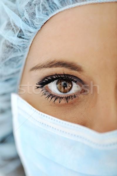 Zdjęcia stock: Pilny · medic · oka · kobiet · lekarza