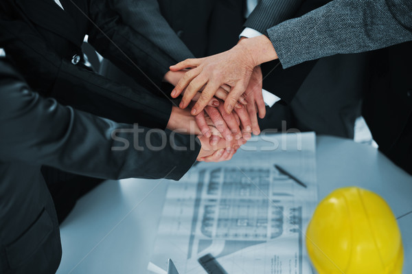 Businesspeople hands holding together Stock photo © zurijeta