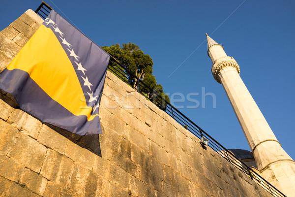 Famous Pocitelj old town near Mostar in Bosnia Herzegovina, mosq Stock photo © zurijeta