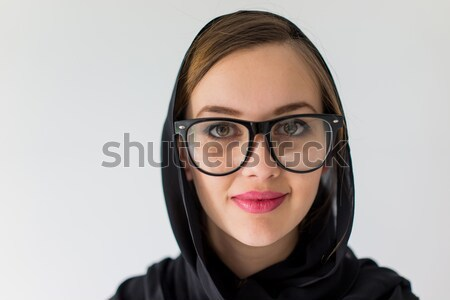 portrait of beautiful woman have the idea Stock photo © zurijeta