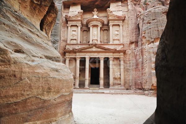 Al Khazneh - the treasury of Petra ancient city, Jordan Stock photo © zurijeta