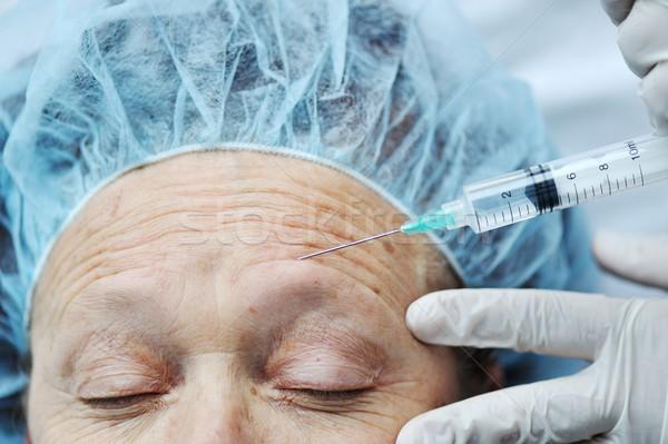 Botox injectie procedure gezicht arts mode Stockfoto © zurijeta