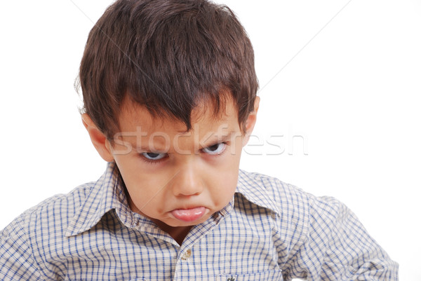 Very very angry kid, great expression of emotion Stock photo © zurijeta