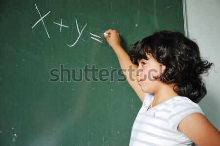 Atividades sala de aula escolas sorrir caneta estudante Foto stock © zurijeta