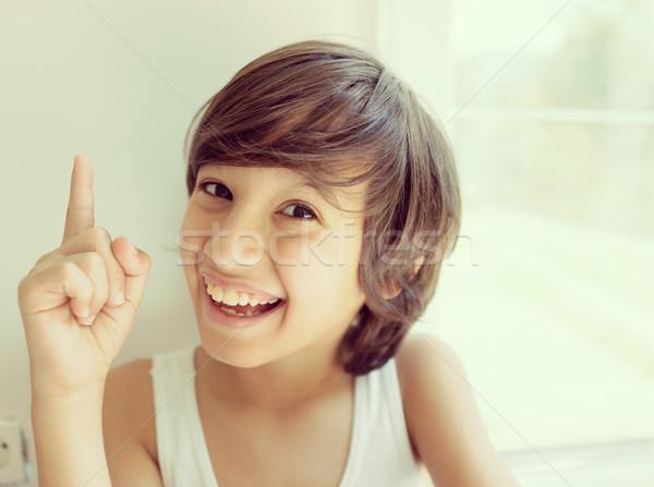 Happy children portraits Stock photo © zurijeta