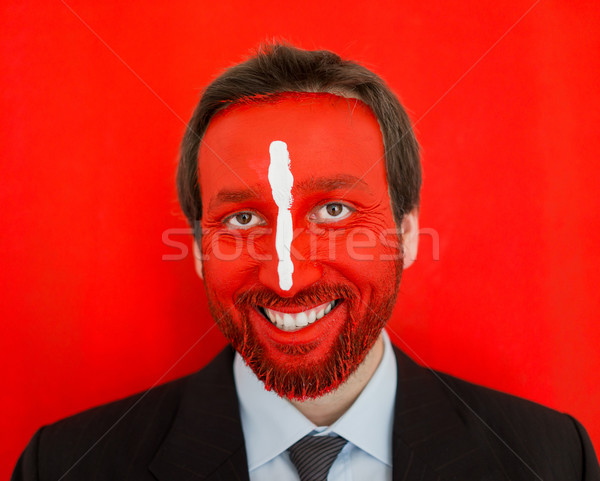 бизнесмен красочный окрашенный лице портрет взрослый Сток-фото © zurijeta