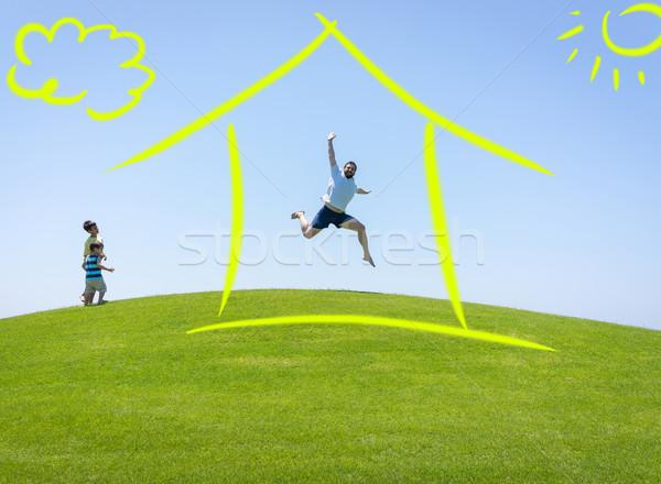 New home dream Stock photo © zurijeta