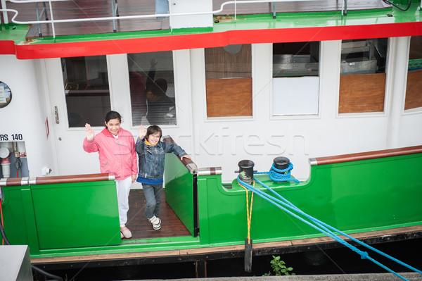 лодка дети морем судно Сток-фото © zurijeta