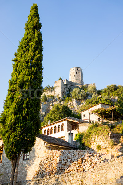 Híres óváros Bosznia és Hercegovina ház fal utca Stock fotó © zurijeta